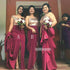 Elegant Mismatched Styles Long Bridesmaid Dresses GDW117