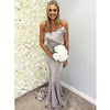 Elegant Mermaid Silver/Light Grey Popular Long Wedding Bridesmaid Dresses, BGP298