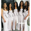 Elegant Side Split Long Bridesmaid Dresses with Bow GDW116