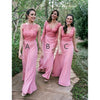 Charming Mismatched Pink Long Cheap Bridesmaid Dresses, BG51477