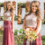 Cheap Short Sleeves Two Pieces Sequin Top Long Wedding Bridesmaid Dresses, BD002