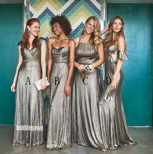 A-line Mismatched Styles Long Bridesmaid Dresses GDW108