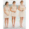 Cap Sleeve Lovely Knee Length Cheap Junior Bridesmaid Dresses, BG51065