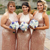 Sequin Mermaid Unique Long Cheap Bridesmaid Dresses, BG51276