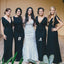 Mismatched Short Sleeve Straight Neck Elegant Long Bridesmaid Dresses, BG51280