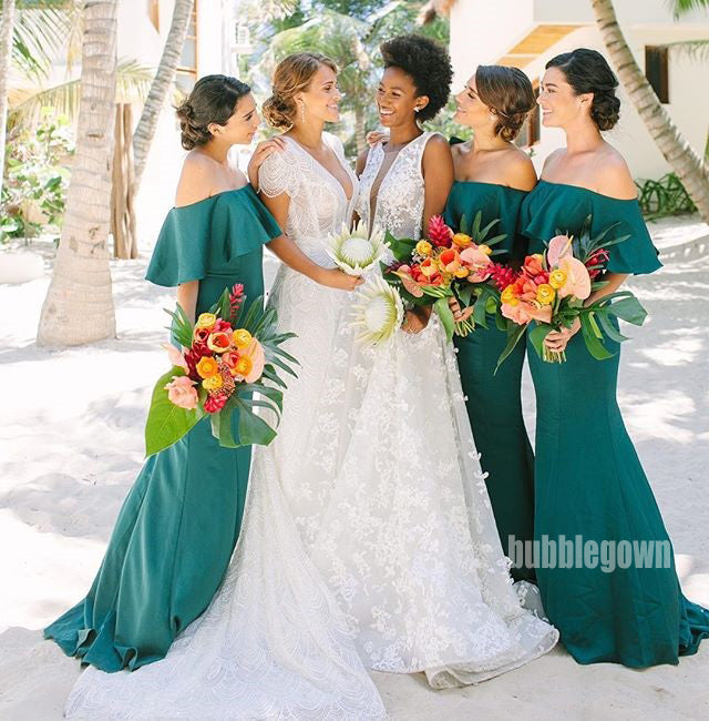 Popular Off the Shoulder Long Bridesmaid Dresses GDW104