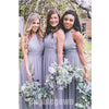 Popuarl Cheap One Shoulder Chiffon Long Wedding Party Bridesmaid Dresses, BD012