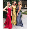 Sexy Open Back Mermaid Long Bridesmaid Dresses GDW111