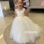 Princess White Lace A-line Flower Girl Dresses, FDH002