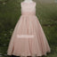 Pink Sleeveless  A-line  Chiffon Flower Girl Dresses, FDH003