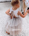 Cute Flower Lovely A-line  Sleeveless Tulle Flower Girl Dresses, FDH008