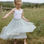 Cute Simple  Lovely Light Green Tulle Flower Girl Dresses, FDH009