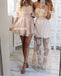 Summer Pink Elegant Off-shoulder Short Homecoming Dresses HDY002