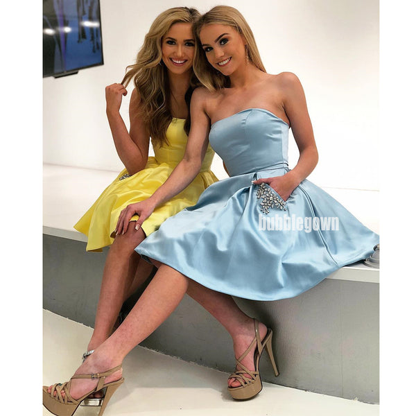 Simple Cheap Cute Short Homecoming Dresses DSA124