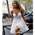 Spaghetti Strap Sweetheart Lace Short Homecoming Dresses DSA123
