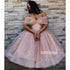 Cute Off the Shoulder Short Homecoming Dresses DSA119
