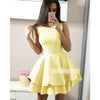 Yellow Simple Cheap Short Homecoming Dresses DSA129