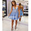 Spaghetti Strap Lace Up Back Short Homecoming Dresses DSA127