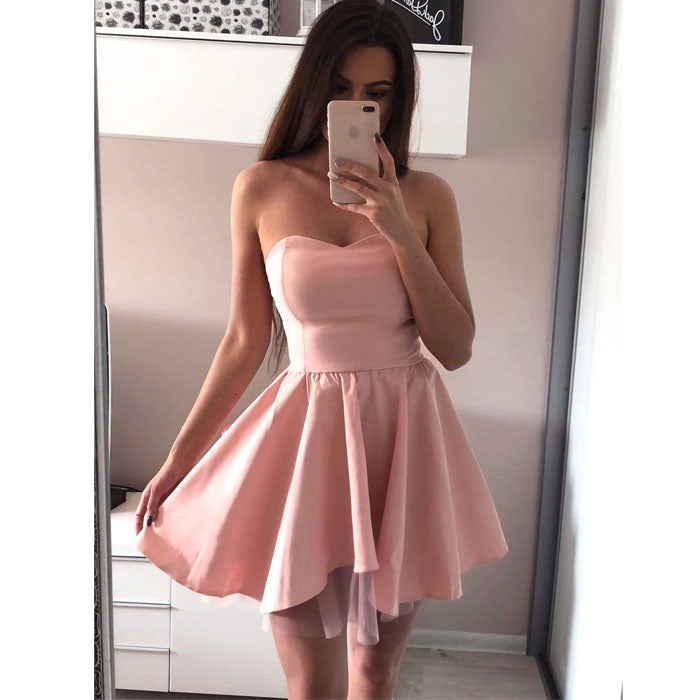 Simple Cheap Sweetheart Popular Short Homecoming Dresses, BH117