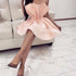 Lovely Blush Pink Short Homecoming Dresses DSA115