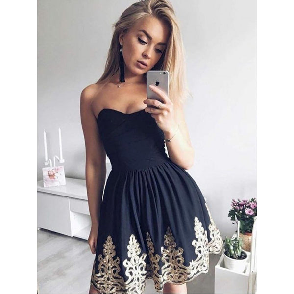 Lovely Popular Unique Applique Cheap Short Homecoming Dresses, BH104