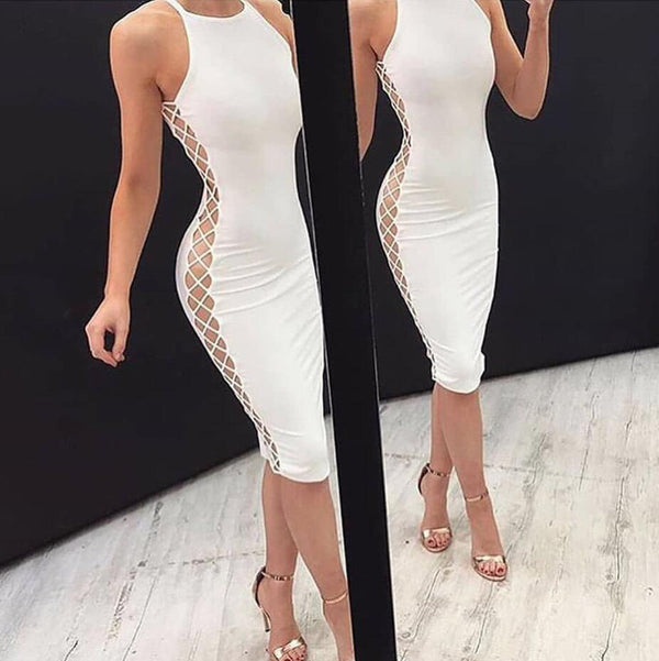 Sexy Ivory Jersey Short Cheap Homecoming Dresses, BH132