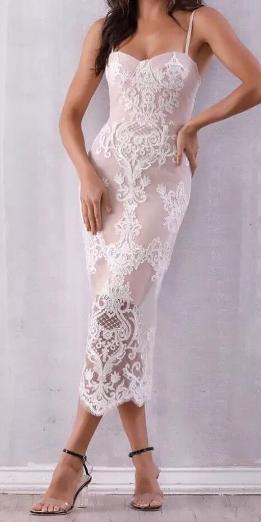 Spaghetti Strap Lace Sweetheart Cheap Homecoming Dresses, BH129