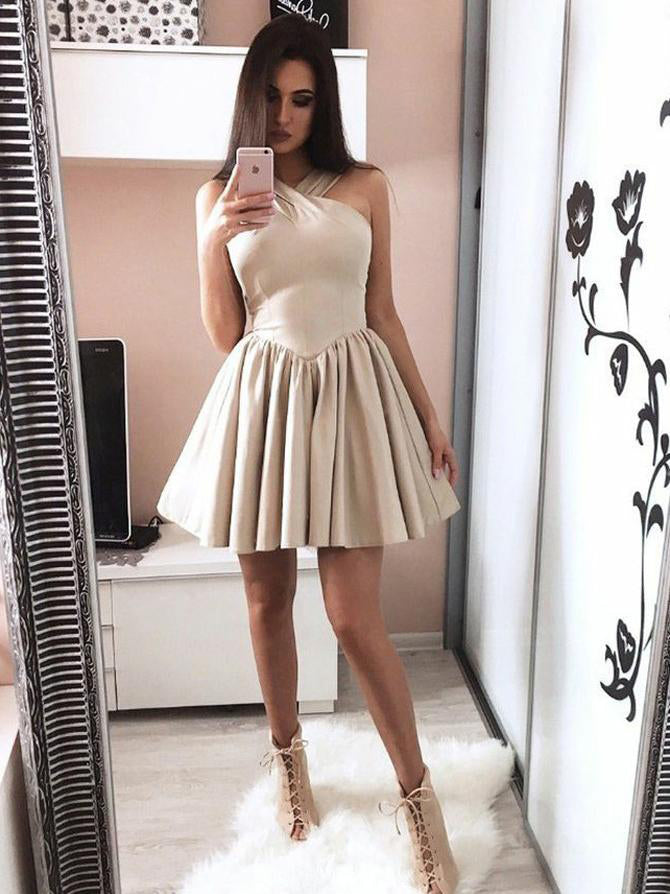 Simple Cheap Halter Lovely On Sale Short Homecoming Dresses, BH113