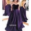 Sexy Dark Purple Sweetheart Party Prom Dresses FP1181