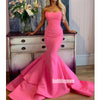 Sexy Bright Strapless Sleeveless Mermaid Prom Dresses FP1189