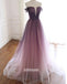 Elegant Off Shoulder Tulle Long Prom Dresses FP1223