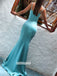Charming Spaghetti Straps Mermaid Long Prom Dresses FP1227