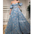 A-line Blue Sweetheart Applique Long Prom Dresses FP1121