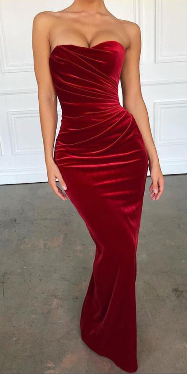 Mermaid Sexy Simple Cheap Long Bridesmaid Prom Dresses, WP024
