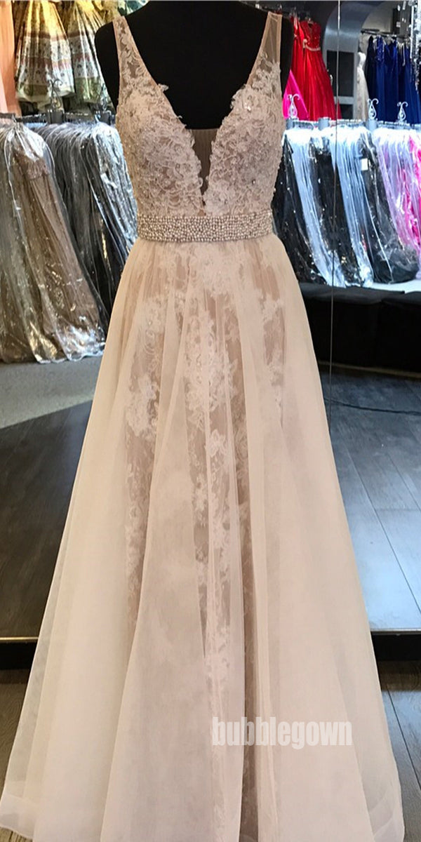 Charming V Neck Popular Inexpensive Cheap Long Prom Dresses, BGP034
