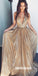 Sparkle V Neck Online Affordable A Line Long Prom Dresses, WP026