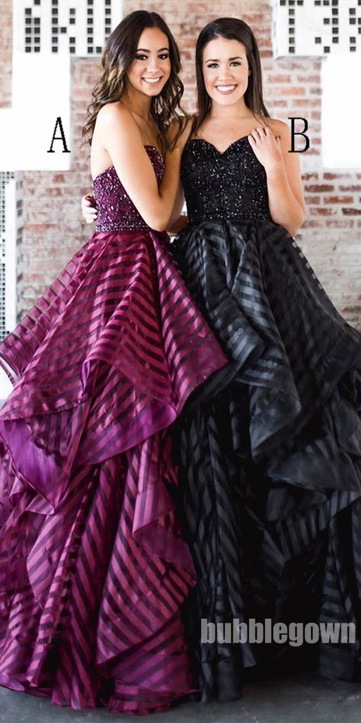Elegant Sweetheart Black Formal Inexpensive Popular Long Prom Dresses, BGP092