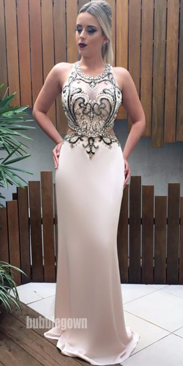 New Arrival Unique Sexy Mermaid Beaded Long Evening Prom Dress, BGP048