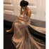 Off the Shoulder Sparkle Long Sleeves Long Prom Dresses, WP023