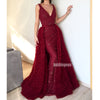Affordable V-neck Mermaid Long Prom Dresses FP1126