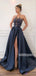 A-line Side Split Popular Long Prom Dresses FP1127