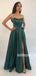 A-line Side Slit Long Bridesmaid Prom Dresses FP1145