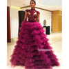 Gorgeous High Neck Tulle Long Prom Dresses FP1130