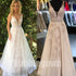 Charming V Neck Popular Inexpensive Cheap Long Prom Dresses, BGP034 - Bubble Gown