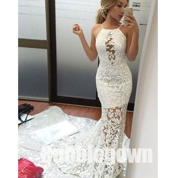 Mermaid Lace Sexy Popular Cheap Long Evening Prom Dresses, BGP042