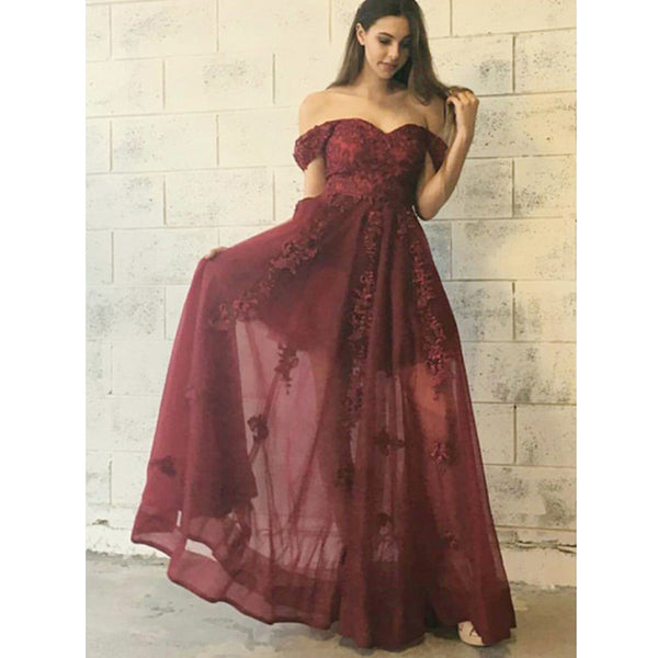 Off the Shoulder Elegant Sweetheart Charming Cheap Long Prom Dresses, BGP203