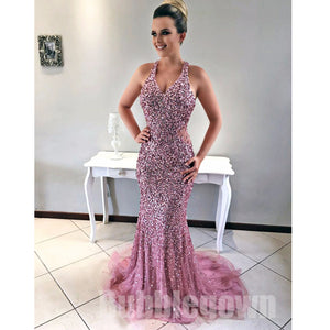 Popular Sparkly Sexy Mermaid Heavy Beaded Long Evening Prom Dress, BGP049