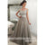 Off the Shoulder Beaded Top Tulle Elegant Evening Long Prom Dress, BGP073