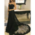 Black Sweetheart Elegant Lace Cheap Long Prom Dresses, BGP210 - Bubble Gown