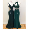 Teal Green Mermaid Evening Party Long Prom Dresses, WP006